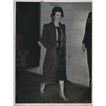 1938 Press Photo NYC, alleged Nazi spy Johanna Hofmann at court