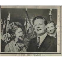 1971 Press Photo Novel Peace Prize Winner Willy Brandt - RRT47233