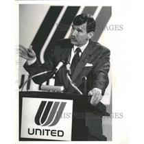 1989 Press Photo United Airlines Chairman And President - RRT78829