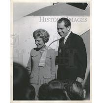 1968 Press Photo Mrs Nixon Stapleton International - RRT99997