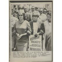 1969 Press Photo Mrs. Coretta King, widow of Dr. King - RRT64563