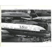 1992 Press Photo British Airways USAir Alliance - RRT22389
