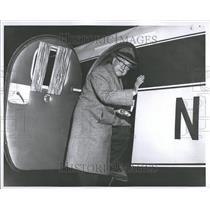1956 Press Photo Cobo Board Private Plane - RRT19619