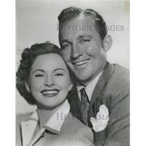 1950 Press Photo Bing Crosby Coleen Gray Riding High - RRT51655