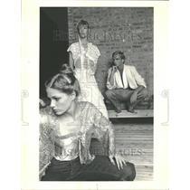 1979 Press Photo Models Show Off Vingage Fabrics - RRT38667