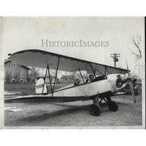 1931 Press Photo Chicago Engineers Develop Light Airplane, Eight Cylinder Power