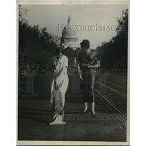 1924 Press Photo Miss Florence Allen, Miss Gwynn Stratford