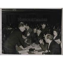 1937 Press Photo James G. Stahlman Of Nashville Banner Being Interviewed