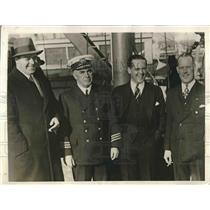 1929 Press Photo H.G Eardly Wilmot, Capt. J.R. Spring-Brown, William Leeds and