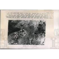 1948 Press Photo Mexico, aerial view of plane crash site