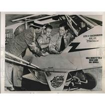 1939 Press Photo Don Smith, Ernie Clark, Bob Donnell for endurance flight rec.