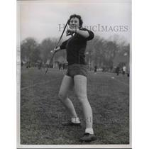 1956 Press Photo Shapely June Noon Streatham Ladies Athletic Club London