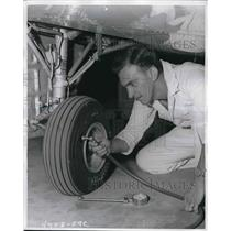 1959 Press Photo Aircraft tires by Goodyear Tire & Rubber Company