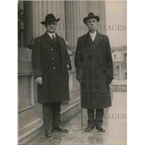 1921 Press Photo Rev. Henry Coudan with Rev. J. Shara Montgomery