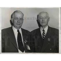 1953 Press Photo John V. Shroyer & Lloyd Thurston, Spanish War Vets - nea95467