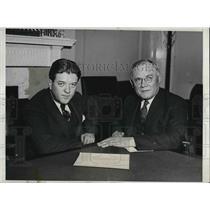 1931 Press Photo William Green, US Fed. of Labor & Sen. Robert LaRollette
