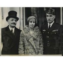 1928 Press Photo Don Alejandro Padilla Y Bell, Spanish Amb to US & family