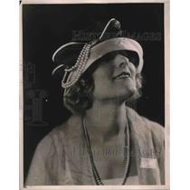 1921 Press Photo Mushroom Hat