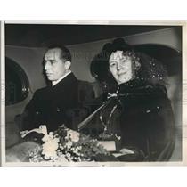 1938 Press Photo Alessandro Gagliardini and Mrs. Bennett Clay Jefferson