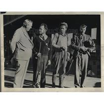 1933 Press Photo Balloonists Ward Van Orman & Frank Trotter