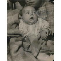 1920 Press Photo A close up of the baby of Mrs JC Tsagarden