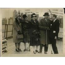 1928 Press Photo Spanish Amb Alejandro Padilla & family arrive in NYC