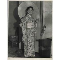 1929 Press Photo Kimiye Nakamura will visit Eastern & Pan-American cities