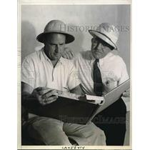 1938 Press Photo Lindbergh Flying Instructors JJ Harrigan and Doug Kelley