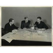 1936 Press Photo Willmott Lewis John Clyde Oswald Kenneth Olson