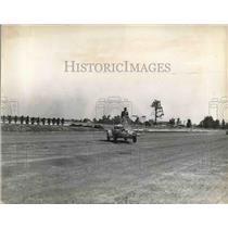 1937 Press Photo Stephen Phillips Land Automobile Transforms Into Plane