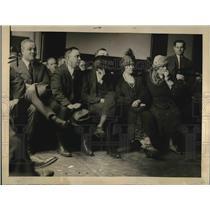 1922 Press Photo Mrs. F. D. Mader, Mrs. Tim Murphy, D. Sarg. Quinn, Fred Mader
