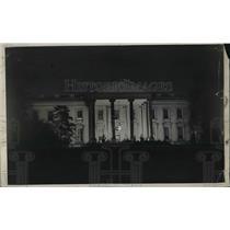 1931 Press Photo Night View of White House, Christmas, Washington, D.C.