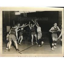 1926 Press Photo Intersectional Basketball at National Farm School Pennsylvania