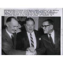 Press Photo Charles Scheff, GWU, mediator Wm Rose & AJ Martin, labor relations