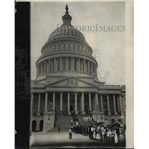 1923 Press Photo U.S. Capitol in Washington D.C.