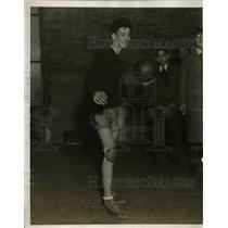 1927 Press Photo Irving Lang Monroe High School Basketball Team Goalie