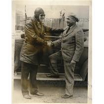 1927 Press Photo Samuel Klein, Jr., dad Samuel Klein, Sr.