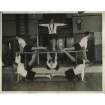 1930 Press Photo Gymnastic Team, Frances Holston, Ethel Anderson, Martha Caccamo