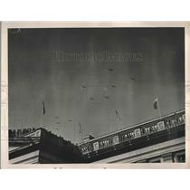 1941 Press Photo Army Planes Fly over the Capitol Inaugural Ceremonies