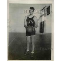 1927 Press Photo Fordham University Basketball Center Morgan Sweetman