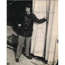 1920 Press Photo Aviator Suit