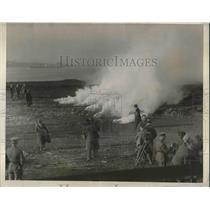 1925 Press Photo Smoke Screen Boston Tear gas