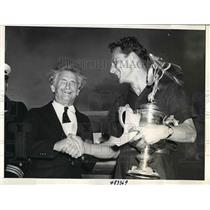 1939 Press Photo Bernarr MacFadden, Max Constant, All American Air Maneuvers