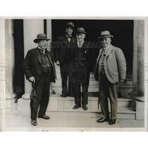 1931 Press Photo British Trade Leaders Meeting Rowan Findlay Henderson Macdonald