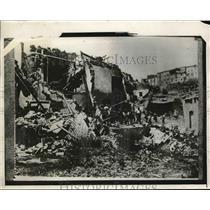 1930 Press Photo Italian Quake at Aviano, Italy