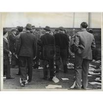 1937 Press Photo workers on strike at Ford Motor Co. plant in Dearborn, MI