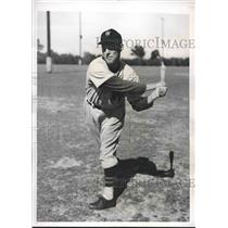 1939 Press Photo Washington Senators Infielder Charles Gelbert Spring Training