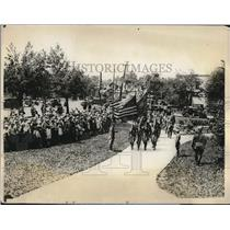 1928 Press Photo Boy scouts arriving to meet the President