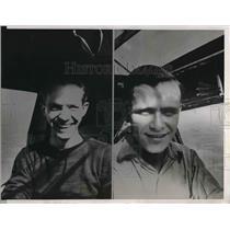 1938 Press Photo Russ Morris and Bob McDaniel break record for flight time