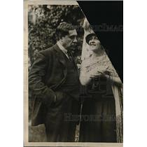 1924 Press Photo Singer Lina Cavalieri with her husband Lucien Muratore